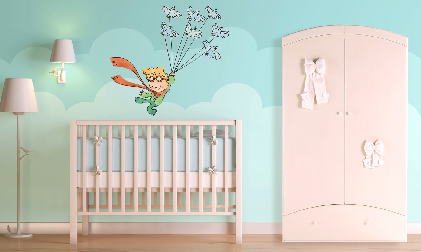 Stickers murali bambini cameretta il piccolo principe for Idee per dipingere una cameretta